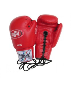 Laced Cowhide Leather Boxing Gloves