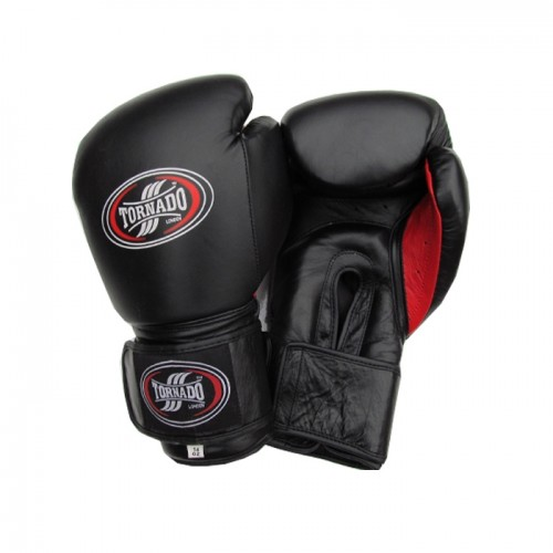 Double Velro Strap Boxing gloves  Leather